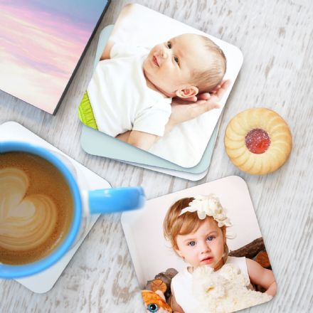Personalised Photo Coasters Set Of Four